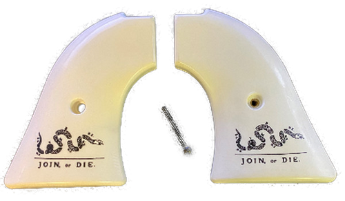 Heritage Arms Rough Rider GRIPS .22 & .22 MAG Faux Ivory Don't Tread On Me