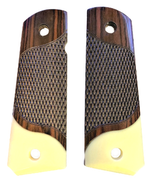 1911 Full Size Classic Rosewood Grips w/Acrylic Ivory Accent