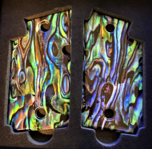 SIG SAUER P238 Custom UV Printed HD Picture of IMOP Abalone Gun Grips