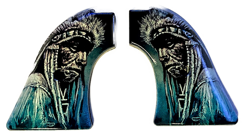 Fits Heritage Arms Rough Rider GRIPS .22 & .22 MAG UV Printed HD Image of  Sioux Chief