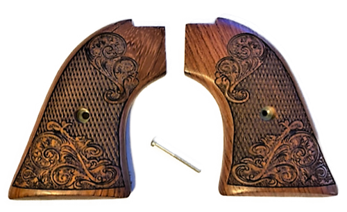"""The Rosewood """"Gold Rush"""" Version Heritage Arms Rough Rider 6 & 9 Shot Grips (.22 &.22 Mag)"""