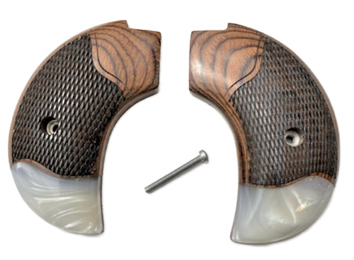 The Rosewood w/Synthetic Pearl Bird's Head Version Heritage Arms Rough Rider 6 & 9 Shot Grips (.22 &.22 Mag)