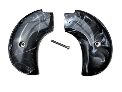 Bird's Head Heritage Arms Rough Rider 6 & 9 Shot Grips (.22 &.22 Mag) Black Mother of Pearl