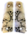 1911 fits Grips Colt Gov & Clones HD Picture of Skulls UV Printed on wood.