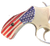 S&W J Frame Round Butt grips with HD Image of aRustic American Flag UV printed over acrylic pearl