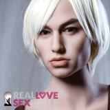 Bright white shaggy center part short men's wig for premium TPE sex dolls