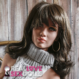 Long wavy dark brown highlights wig for premium TPE sex dolls