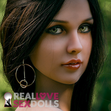 Subtle long black hair with brown highlights and middle part wig for premium TPE love dolls