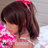 dark brown pony tail wig for your sex doll