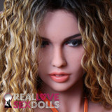 Sex Doll Wig with Gold, Brown and Blonde Sexy Beach Waves with darker Roots
