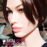 Lara Croft Sex Doll Head at RealLoveSexDolls.com for TPE sex doll body.