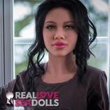 Long dark loose curls sex doll wig