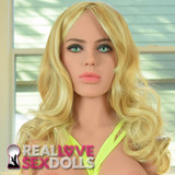 Wavy Blonde Sex Doll wig with Highlights