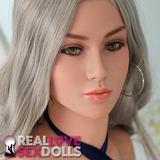 Silver-haired supermodel premium busty TPE 168cm E-cup sexy love doll Simone