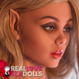 Fantasy elf seductress life-like TPE sex doll head #172