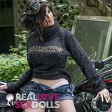 Sexy tomboy rough rider biker girl premium TPE sex doll 155cm D-cup Rebel