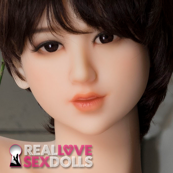 Cute tomboy all grown up hot oral sex premium TPE replacement sex doll head #229