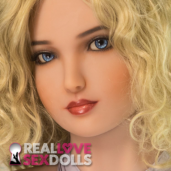 Sweet sexy blonde seductress delicate lover premium TPE replacement sex doll head #241