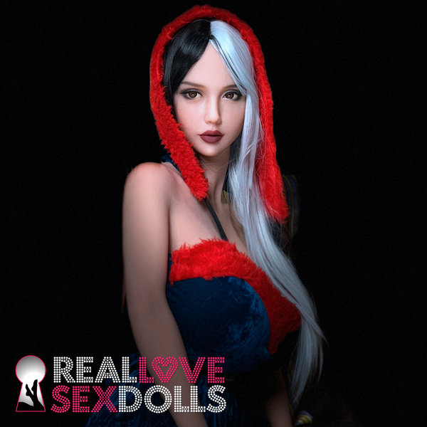 Seductive and mysterious busty life-like TPE goth sex doll torso L-cup Aura