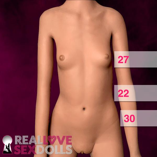 Skinny sex doll, flat chested, rail thin petite beauty
