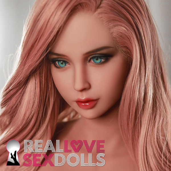 Long dark pink wig with lace front