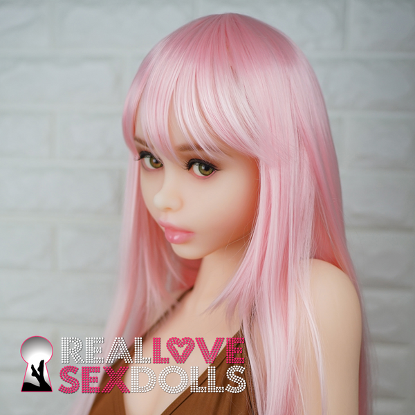 Sexy Mid-length candy-pink wig with fringe bangs for your Piper doll.