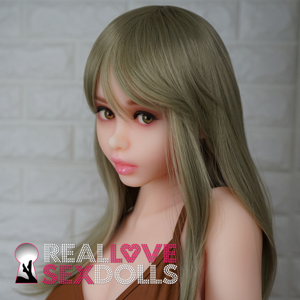 Mid-length dirty blonde wig fringe bangs for your Piper doll.