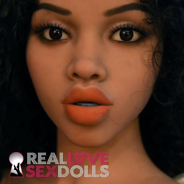 Sexy black girl sex doll head 176