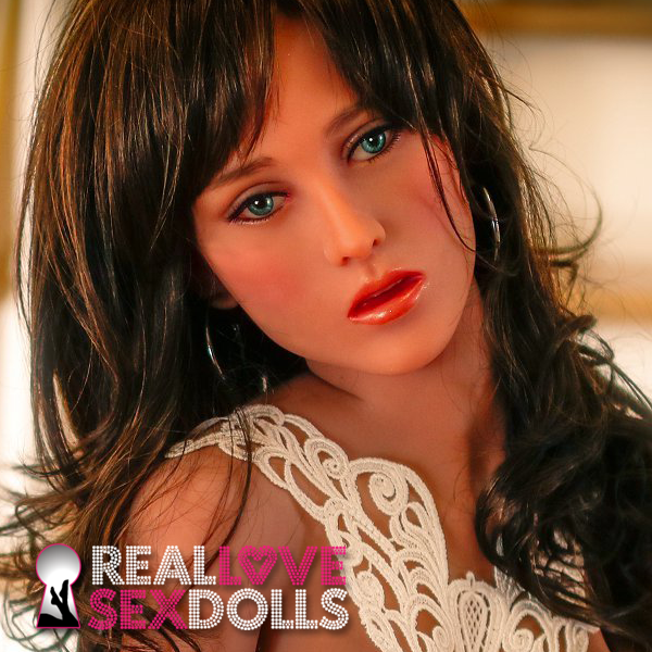 Demure lovely girl premium TPE sex doll head #8
