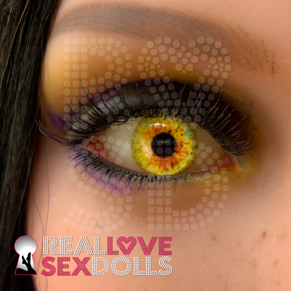 Bright Amber eyes to give your sex doll a intense gaze.