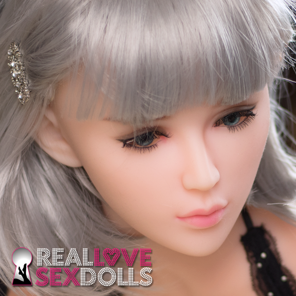 Modern stylish silver bob sex doll wig