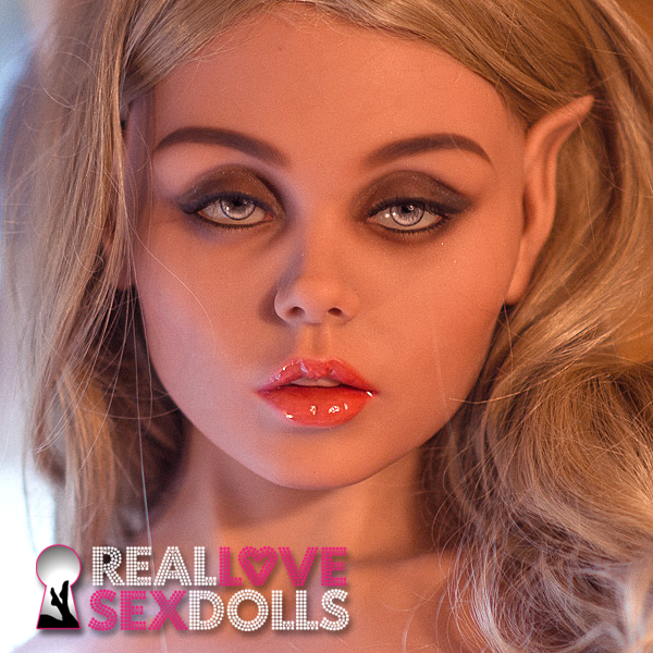 Fantasy elf seductress life-like TPE sex doll head #172