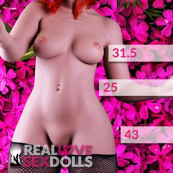Realistic big butt dream girl TPE sex doll body 156cm B-cup
