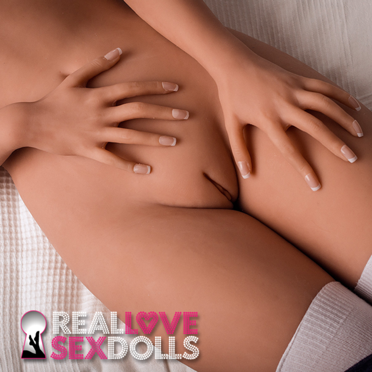 Horny girlfriend sweet lovely blonde seductress premium TPE sex doll 162cm B-cup