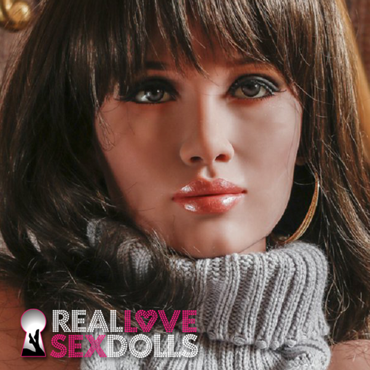 Glamorous retro film femme realistic life like TPE sex doll replacement head #220