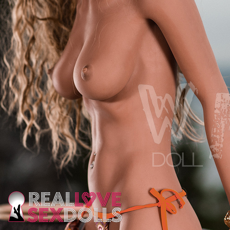 Sun-kissed bronze bikini beauty realistic TPE sex doll 166cm C-cup Courtney