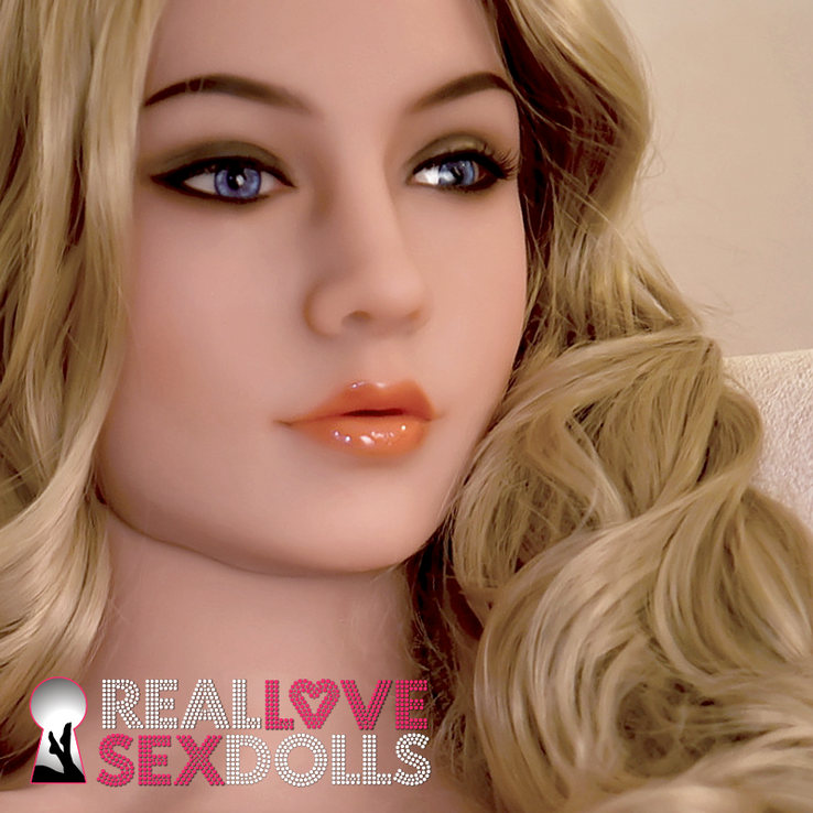 Demure dreaming beauty realistic soft replacement TPE head #227 for life-like sex dolls
