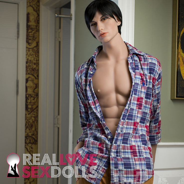 Hot hard dick lover life-like realistic male TPE sex doll cut abs and butt