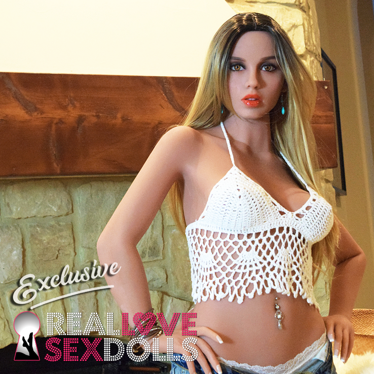 long blonde wig with darker roots for sex doll