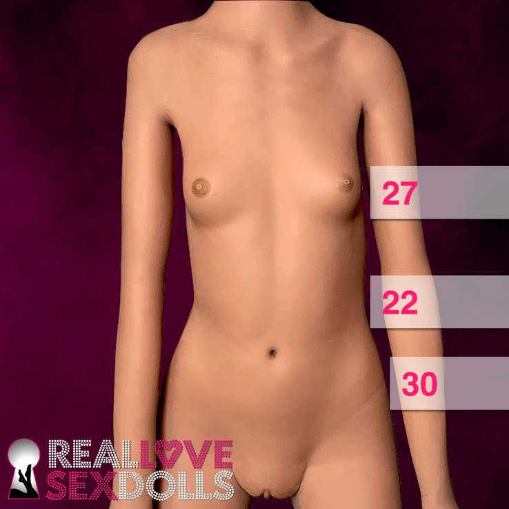 Skinny sex doll, flat chested, rail thin petite beauty