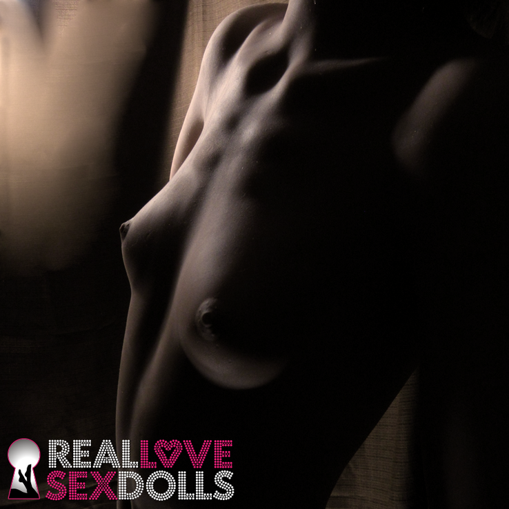 Sex doll Taylor has a gymnasts thin petite body with small perky A-cup breasts