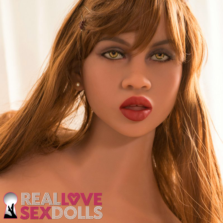 Sexy Ethnic beauty realistic sex doll head #271 for life-like sex dolls