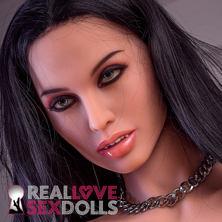 Lace front, long black wig for your sex doll