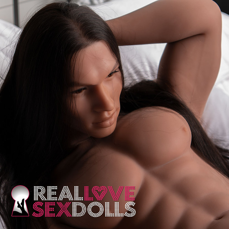 Muscular male sex doll, super sexy and life-like.
