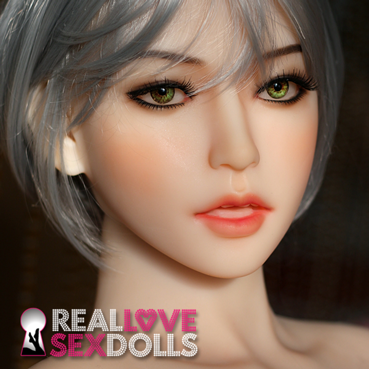 Sultry seductress life-like premium TPE sex doll head #175