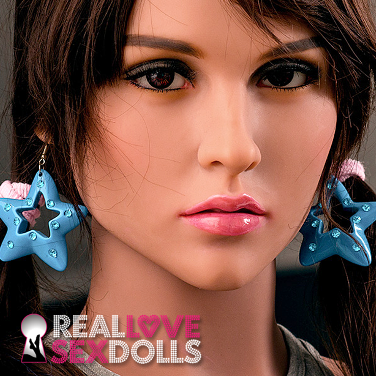 Beautiful sexy teen girlfriend next door life-like TPE replacement sex doll head #159