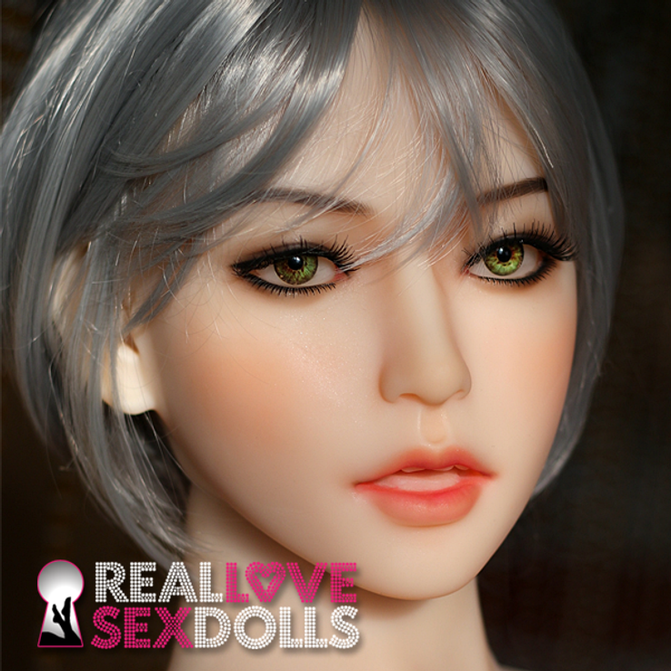 Medium gray bob with bangs hairstyle premium wig for TPE love dolls