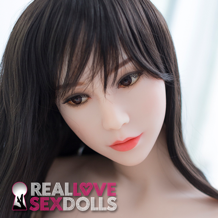 Raven-haired beauty, mysterious and lovely premium TPE love doll replacement head #70