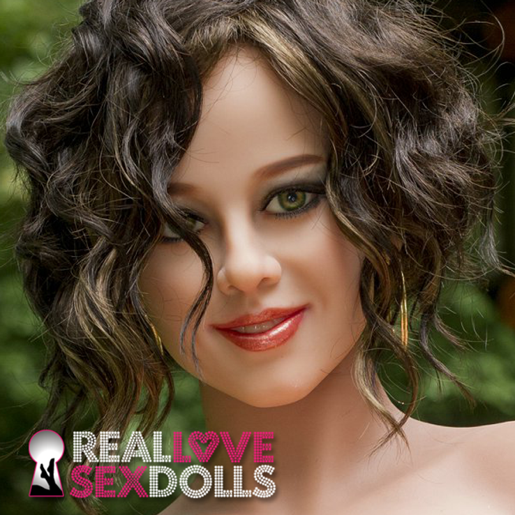 Smiling face girlfriend beautiful premium TPE sex doll head #133
