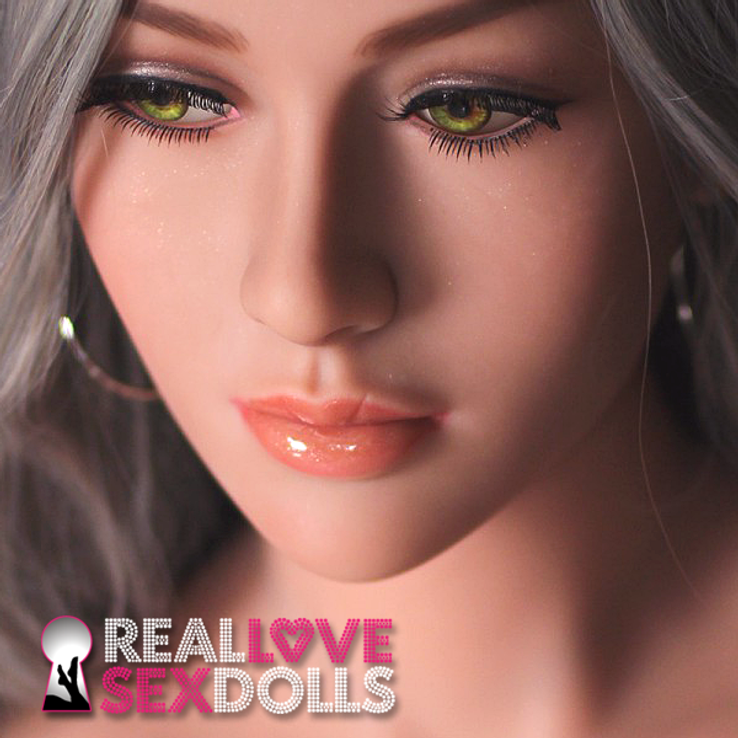 Stunning sophisticated beauty premium TPE sex doll head #15